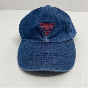 Guess Jeans Demin Baseball Cap Logo Unisex Hat